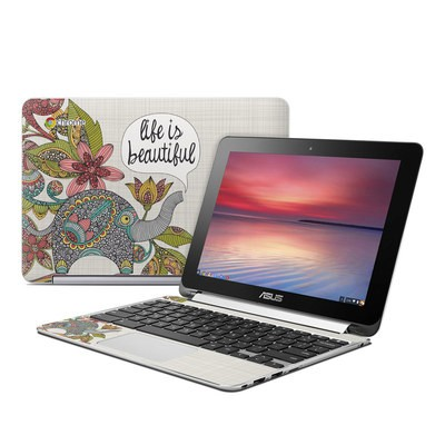 Asus Flip Chromebook Skin - Life is Beautiful