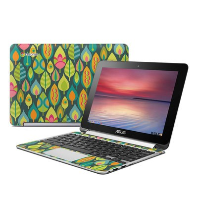 Asus Flip Chromebook Skin - Little Leaves