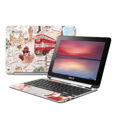 Asus Flip Chromebook Skin - London