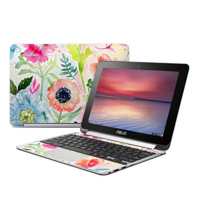Asus Flip Chromebook Skin - Loose Flowers