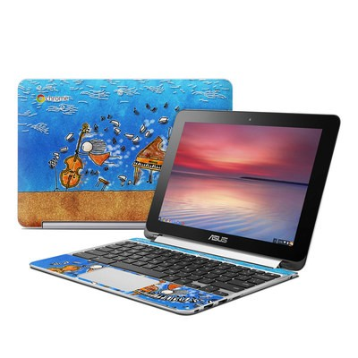 Asus Flip Chromebook Skin - Music is Power