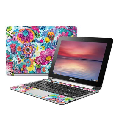 Asus Flip Chromebook Skin - Natural Garden