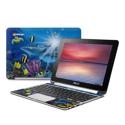 Asus Flip Chromebook Skin - Ocean Friends