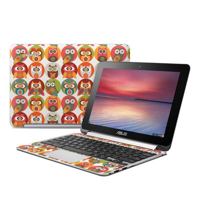 Asus Flip Chromebook Skin - Owls Family