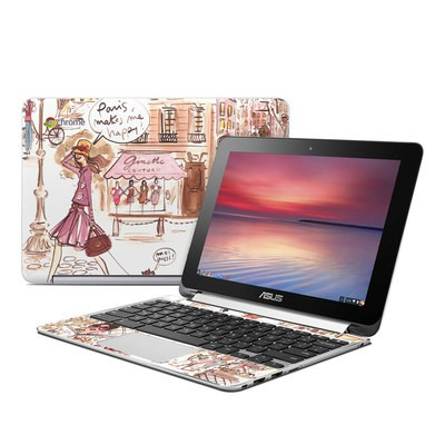 Asus Flip Chromebook Skin - Paris Makes Me Happy