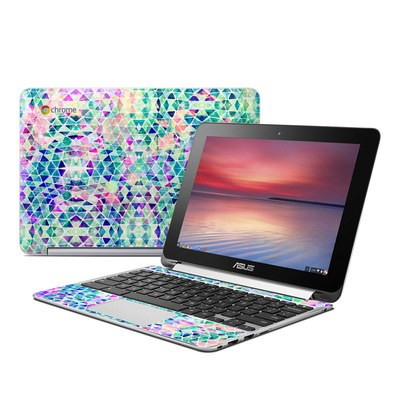 Asus Flip Chromebook Skin - Pastel Triangle