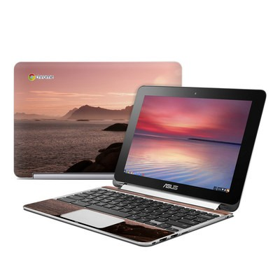 Asus Flip Chromebook Skin - Pink Sea