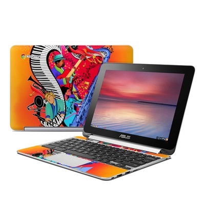 Asus Flip Chromebook Skin - Red Hot Jazz