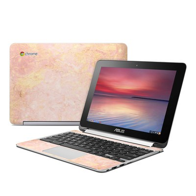 Asus Flip Chromebook Skin - Rose Gold Marble