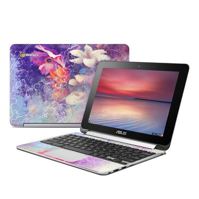 Asus Flip Chromebook Skin - Sketch Flowers Lily