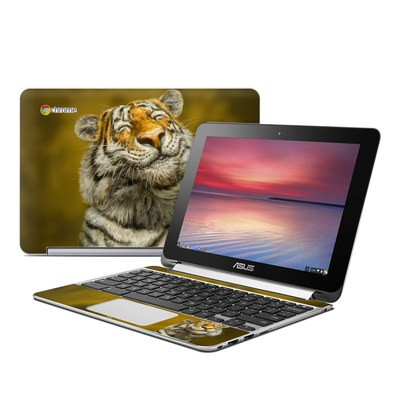 Asus Flip Chromebook Skin - Smiling Tiger
