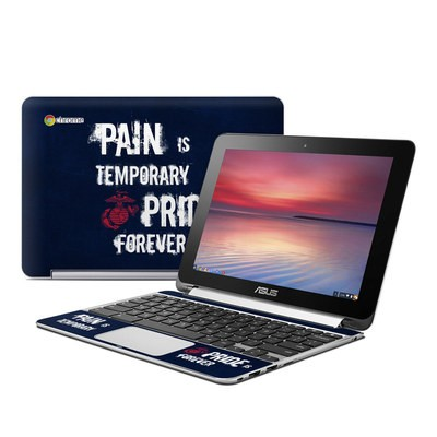 Asus Flip Chromebook Skin - Pain is Temporary