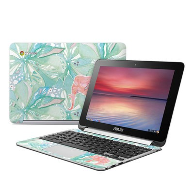 Asus Flip Chromebook Skin - Tropical Elephant