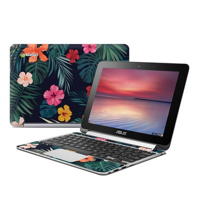 Asus Flip Chromebook Skin - Tropical Hibiscus
