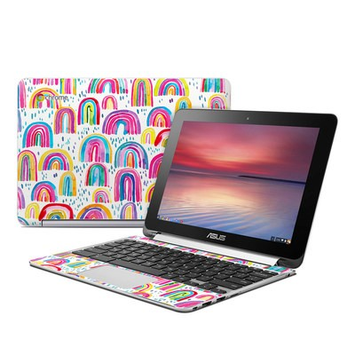 Asus Flip Chromebook Skin - Watercolor Rainbows