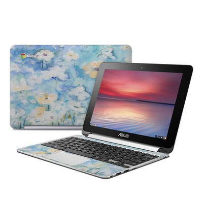 Asus Flip Chromebook Skin - White & Blue
