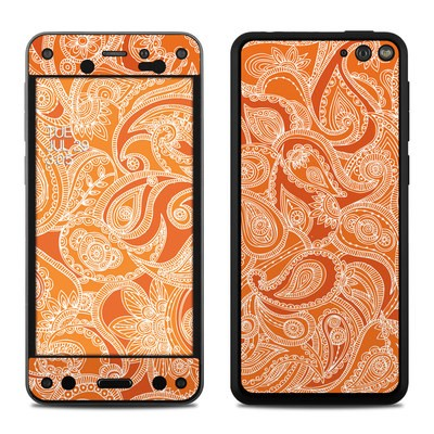 Amazon Fire Phone Skin - Paisley In Orange