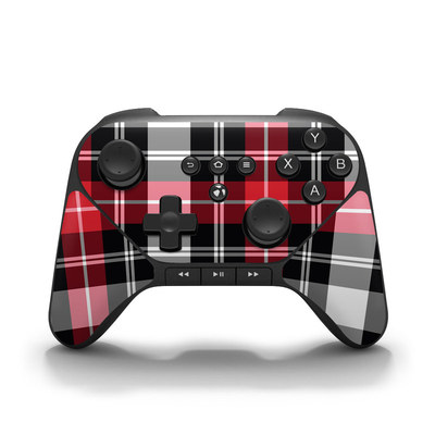 Amazon Fire Game Controller Skin - Red Plaid