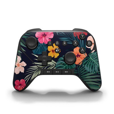Amazon Fire Game Controller Skin - Tropical Hibiscus