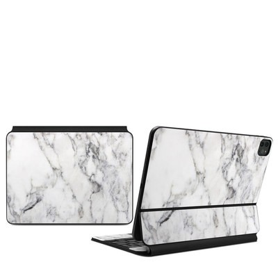 Apple Magic Keyboard (iPad Pro 11in, 2nd Gen) Skin - White Marble