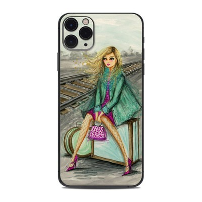 Apple iPhone 11 Pro Max Skin - Lulu Waiting by the Train Tracks
