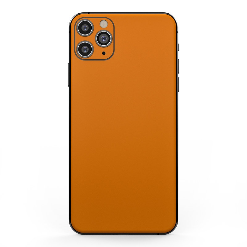 Apple iPhone 11 Pro Max Skin - Solid State Orange by Solid Colors   DecalGirl