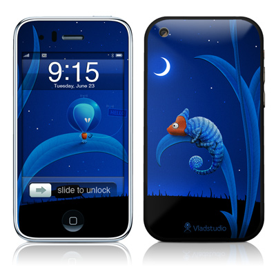 iPhone 3G Skin - Alien and Chameleon