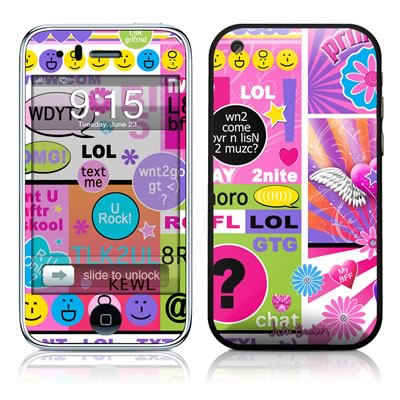 iPhone 3G Skin - BFF Girl Talk