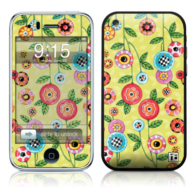 iPhone 3G Skin - Button Flowers