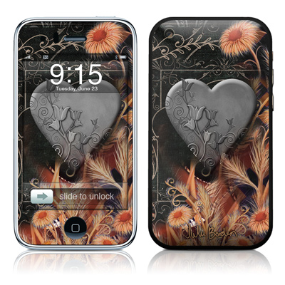 iPhone 3G Skin - Black Lace Flower