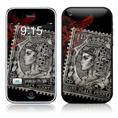 iPhone 3G Skin - Black Penny