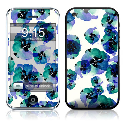 iPhone 3G Skin - Blue Eye Flowers