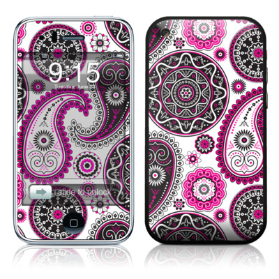 iPhone 3G Skin - Boho Girl Paisley