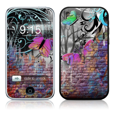 iPhone 3G Skin - Butterfly Wall