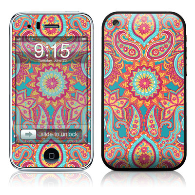 iPhone 3G Skin - Carnival Paisley