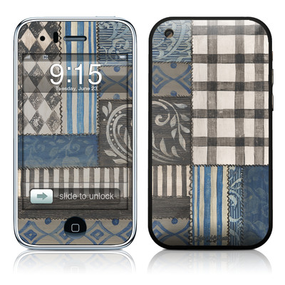 iPhone 3G Skin - Country Chic Blue