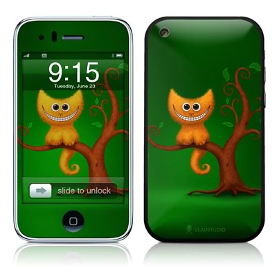 iPhone 3G Skin - Cheshire Kitten