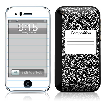 iPhone 3G Skin - Composition Notebook