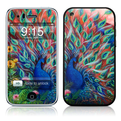 iPhone 3G Skin - Coral Peacock