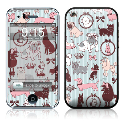 iPhone 3G Skin - Doggy Boudoir