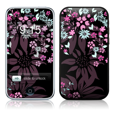 iPhone 3G Skin - Dark Flowers