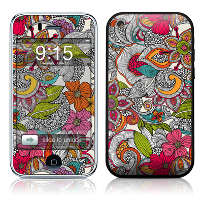 iPhone 3G Skin - Doodles Color