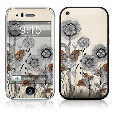 iPhone 3G Skin - Four Flowers