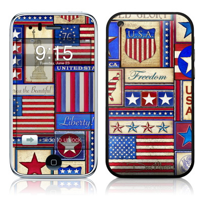 iPhone 3G Skin - Flag Patchwork
