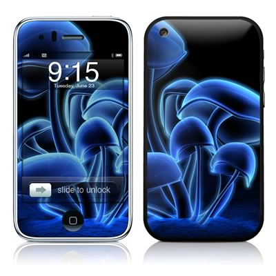 iPhone 3G Skin - Fluorescence Blue