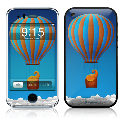 iPhone 3G Skin - Flying Elephant
