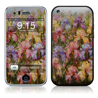 iPhone 3G Skin - Field Of Irises
