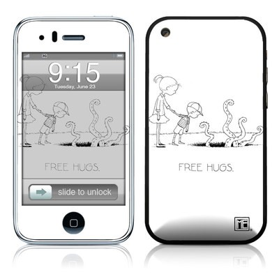 iPhone 3G Skin - Free Hugs