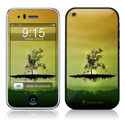 iPhone 3G Skin - Flying Tree Amber