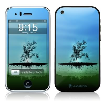 iPhone 3G Skin - Flying Tree Blue